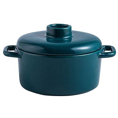 Cooking Tools Olla de Cocina Cazuelas Mini Olla de Sopa Mango de Doble Oreja Resistente a Altas temperaturas Cómodo de sostener
