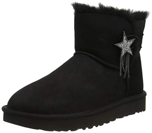 UGG Australia Damen Mini Bailey Star Stiefelette, Black, 41 EU