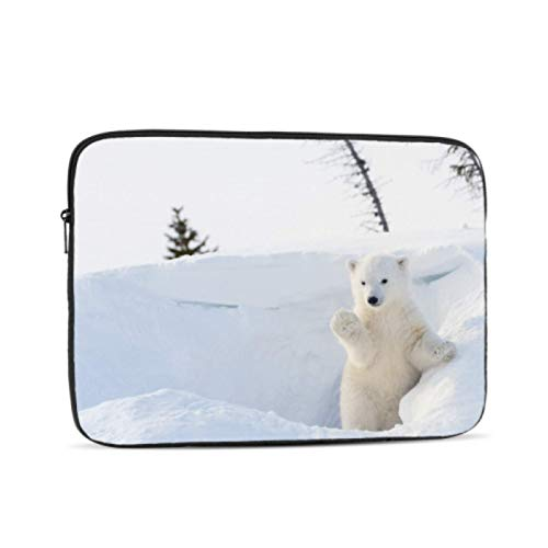 Mac Book Accessories Cool Animal White Polar Bear MacBook Pro Screen Protector Multi-Color & Size Choices10/12/13/15/17 Inch Computer Tablet Briefcase Carrying Bag
