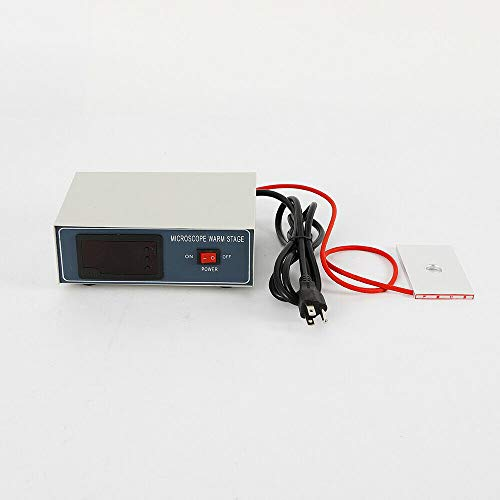 Microscope Warm Stage,Digital Thermostat Microscope Temperature Heating Plate Warming Board Desktop Slide Warmer Temp Control Stage 110V 32W(US Shipping)