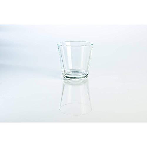 INNA-Glas Set de 6 x Pequeño Vaso Decorativo - portavelas Alex, Transparente,...