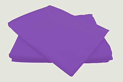 Betttücher ohne Gummizug Baumwolle viele Farben und Größen Bettlaken Betttuch Haustuch (150x240cm, lila)