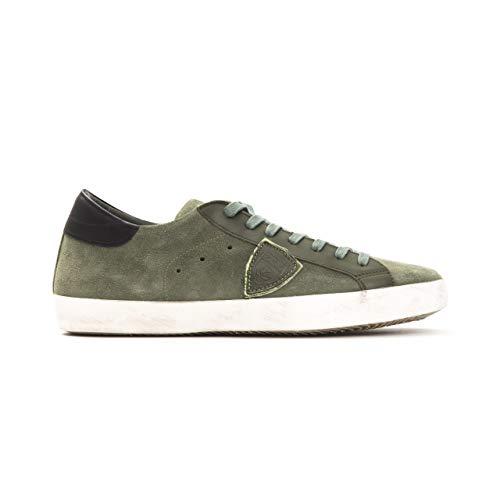 Philippe Model Sneakers Paris L UVEAU Uomo Scarpa 100% Pelle Made in Italy CLLUXY49-41 (Numeric_44)