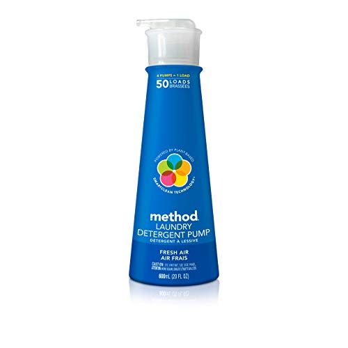 Method Concentrated Laundry Detergent with Pump, Fresh Air, 20 Fl Oz, 50 Loads