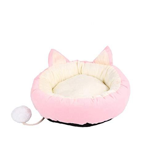 Unbekannt Hundebett Super Soft Pet Schlafsofa Angebote Kopf-Hals-und Joint Support Premium-bettwäsche Für Katzen Oder Kleine Hunde Rosa M
