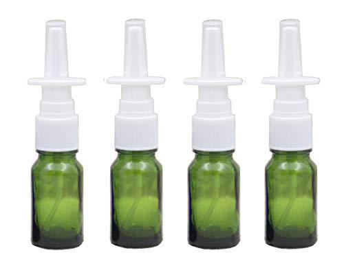 6 botellas de vidrio de spray nasal, recargables, 10 ml