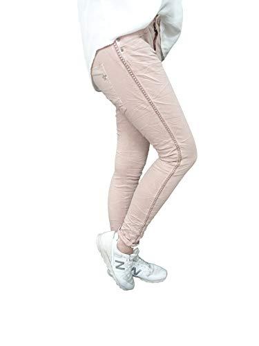 LEXXURY JEWELLY BAGGY Boyfriend Damen Stretch Hose Jeans