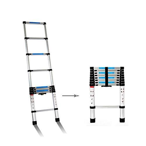 Teleskopleitern Multifunktionale Teleskopleiter Gerade Leiter Aluminiumlegierung Dicke Klappleiter Aufzugstechnik Gebäudeleiter (Size : 2m)