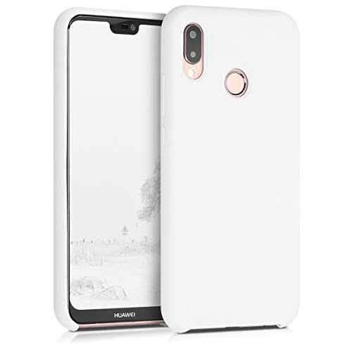 kwmobile Cover Compatibile con Huawei P20 Lite - Custodia in Silicone TPU - Back Case Protezione Cellulare Bianco