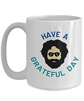 Grateful Dead Mug Deadhead Gifts Grateful Dead Gifts Grateful Dead Art Jerry Garcia Coffee Mug Jerry Garcia Hand Print Grateful Dead Ceramic