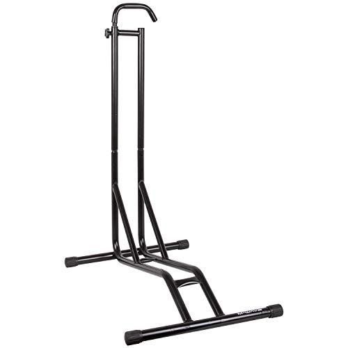 M-Wave Unisex– Erwachsene Raimund 2 in 1 vertikaler + horizontaler Fahrradständer, Parkständer, Abstellständer 12-29 Zoll, für Reifenbreite bis 2,5
