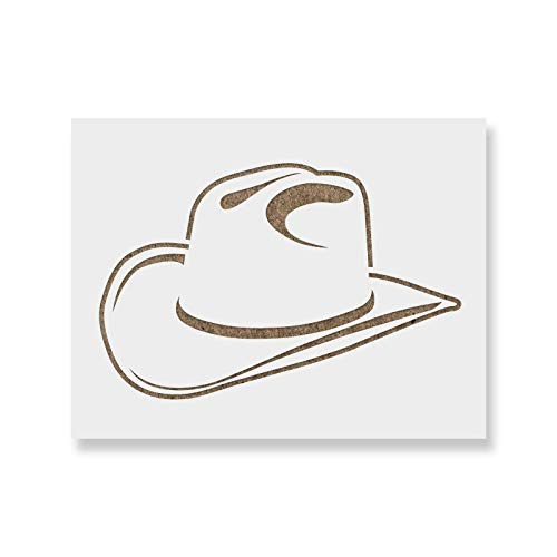 Cowboy Hat Stencil - Reusable Stencils for Painting - Mylar Stencil for DIY Projects and Crafts