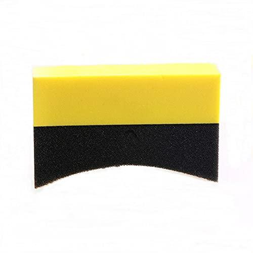 WUTINGKONG Limpieza de la Esponja de Lavado de Autos en Forma de U Neumático de Pulido de Cera de Pulido de la Esponja de la Esponja de la Esponja del Borde del Borde del Borde del Borde del Borde