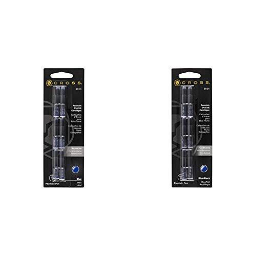 Cross 8920 - Pack de 6 Cartuchos de Tinta para Pluma, Color Azul + 8924 - Pack de 6 Cartuchos de Tinta para Pluma, Color Azul/Negro