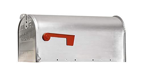 Arregui E2101 Buzón Individual de Aluminio de estilo americano, Inox, Tamaño L (revistas y sobres C4) -22 x 48 x 17 cm