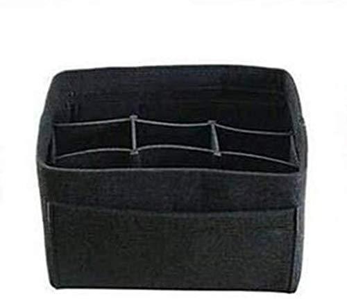 MRZJ Organizador de artículos de belleza, gran capacidad, bolsa de viaje, multibolsillos, bolsa de tela, color negro