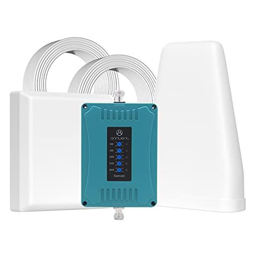 ANNTLENT 5-Banda Amplificador Cobertura Móvil 800/900/1800/2100/2600MHz para el Hogar y la Oficina - 2G 3G 4G LTE Repetidor de Señal Movil - Aumenta Sus Datos y Llamadas de Voz
