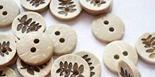 """1497 10 BROWN /& CREAM Striped 4-hole Resin Buttons 5//8/"""" 15mm Scrapbook Craft"""