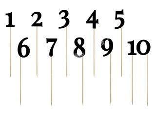 Party Deco - Números de Mesa, Color Negro