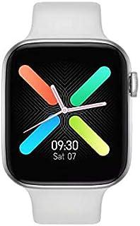 ساعة ذكية FT50 بشاشة لمس بالكامل 1.54 بوصة تعمل بالبلوتوث وتُظهر الاشعارات، لها سِوار سيليكون قابل للفصل ومتوافقة مع اندرو...