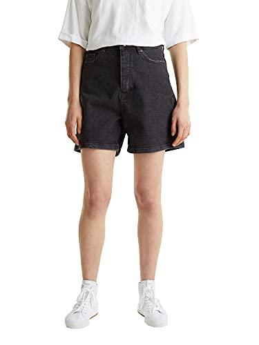 edc by ESPRIT Damen 040CC1C305 Jeans-Shorts, 912/BLACK MEDIUM WASH, 27