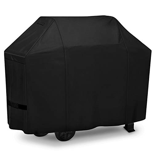 iCOVER 600D Grill Cover - 60 inch Heavy Duty Barbeque Gas Grill Cover 600D Canvas Waterproof No Fading Smoker BBQ Covers, for Weber,Char Broil, Holland, Jenn Air, Dyna-Glo, Brinkmann
