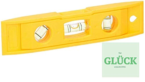 Mini waterpas, 15 cm, magnetisch + gratis geluk sticker
