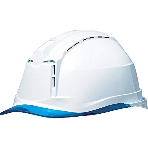 ミドリ安全 ヘルメット 作業用 PC製 クリアバイザー 通気孔付 簡易着脱内装 SC19PCLV RA3 KP付(αライナー) ホワイト/ブルー