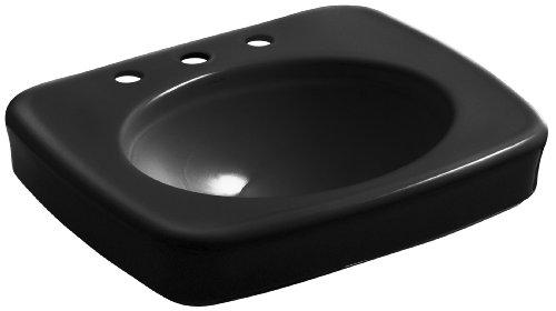 Kohler K-2340-8-7 Bancroft Waschtisch mit Zentren für 20,3 cm Zentren, 61 cm, Schwarz