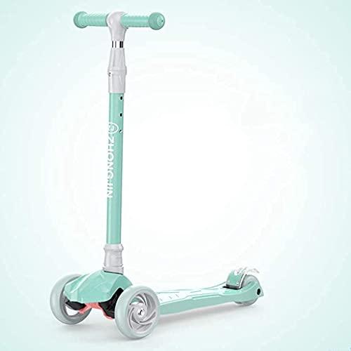 ZHZHUANG Freestyle Scooter, Scooters For Kids 3 Wheel Kick Scooter para Niños Pequeños para Niños, 4 Altura Ajustable, Magro para Dirigir, Cubierta Extra Ancha