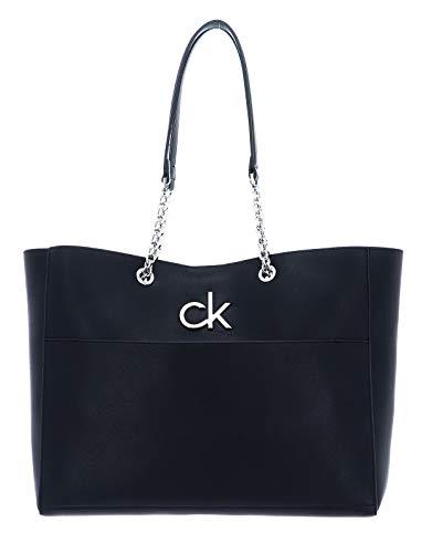 Calvin Klein Damen RE-LOCK Tote, Schwarz, OS