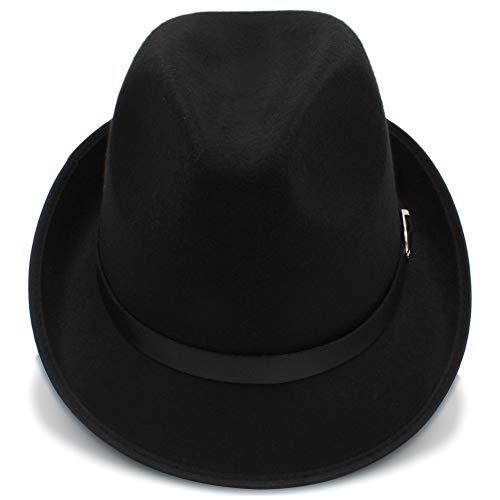 Fang-hats shop, Fang-hats shop, Fedora-Hut, für Damen, britischer Stil, Fedora-Hut, für Herren, Herbst, Winter, lässig, Trilby-Hüte, lässig, Schwarz, 55-58 cm