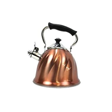 Kitchen Collection 3.2 Quart Copper Swirl Kettle 09321