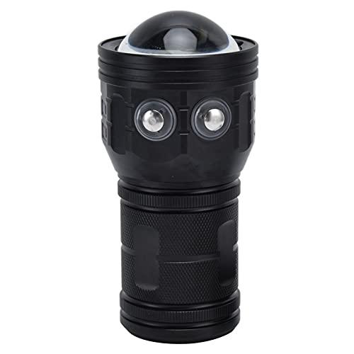 Buachois Linterna de Buceo ipx8 Impermeable 7 Modos de iluminación Carga USB antorcha eléctrica de Largo Alcance 80m fotografía submarina Luces de Relleno para Pesca al Aire Libre Salvamento Camping