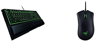 Razer Ornata Expert – Mecha-Membrane Gaming Keyboard with Mid-Height Keycaps +  Deathadder Elite Gaming Mouse Combo