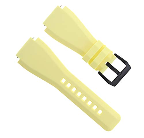 24mm Rubber Watch Band Strap Compatible with Sony Smart Watch 2 Ii Black Pvd