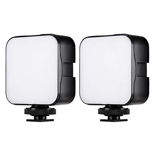 Mini lampada per fotocamera portatile, lampada di riempimento per foto, luce video a LED, 6500 K, dimmerabile, 5 W, con adattatore per montaggio di scarpe fredde per fotocamera Smartphone