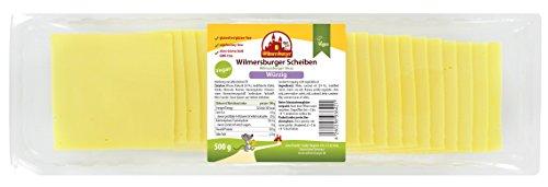 Wilmersburger Vegane Käsescheiben würzig 24 % Fett 500 g Packung
