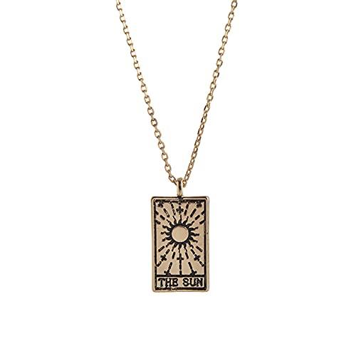 BULABULA Tarot Pendant Necklace Fashion Clavicle Chain Choker Beautiful Jewelry Accessories for Women Girls