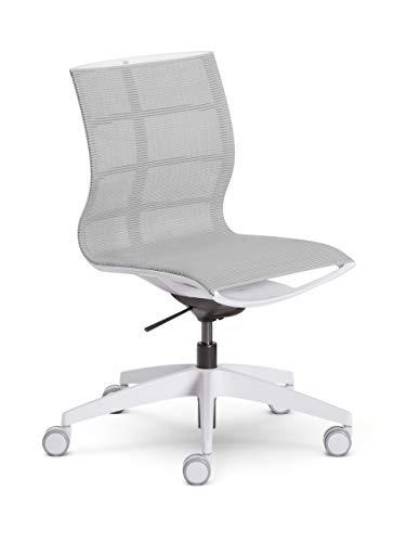 Sedus se:joy Bürostuhl, Kunststoff, Lichtgrau / weiß, 86 x 78 x 99 cm