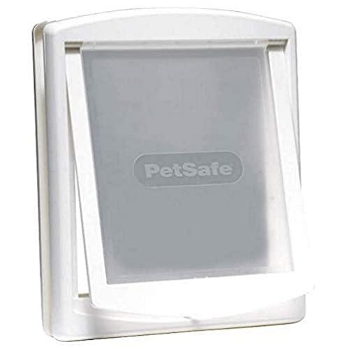 PetSafe Staywell Original - Puerta Para Perros y Gatos, Gatera de Entrada y Salida, Puerta para Mascotas con Panel de Cierre Rígido para Trabajo Pesado Incluido - Blanco - Tamaño L