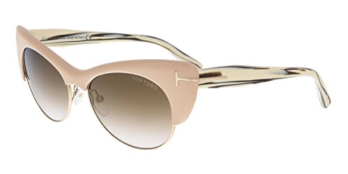 Tom Ford Für Frau 0387 Pink / Horn / Brown Gradient Kunststoffgestell Sonnenbrillen