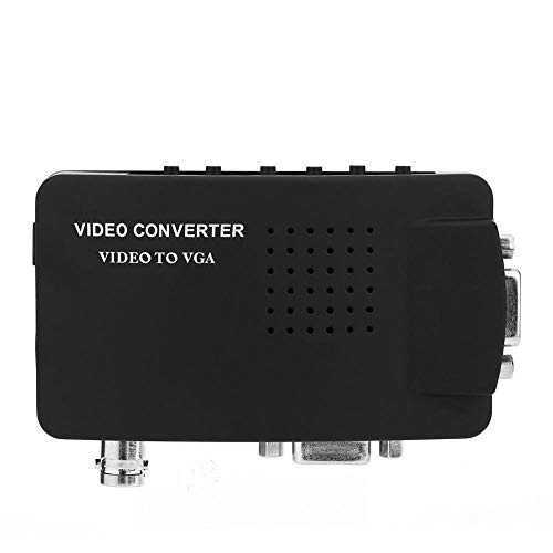 Zerone 1080p Video Converter, BNC/S-Video/VGA zu VGA Converter Box für DVD/PDP / PS2 in Schwarz