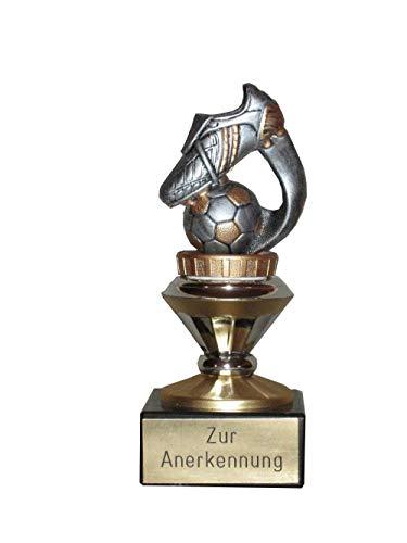 Fussball-Pokal mit Ihrem Wunschtext graviert