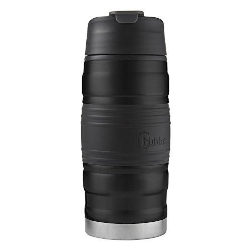 bubba Hero doppelwandiger vakuumisolierter Edelstahlbecher mit Griff, 340 ml, schwarz