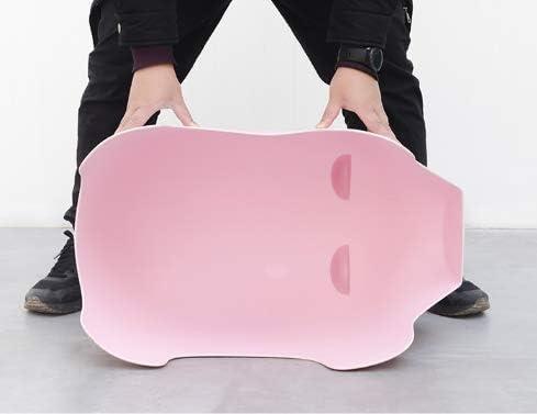 HSLX Tabouret Chaise de Porc bébé Maison Chaussures en Plastique Banc Chaise de Bande dessinée Enfants Maternelle Couleur Jouet Tabouret Rose