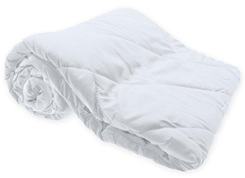 Haus und Deko Leichtsteppbett Decke Klimafaser 135x200 cm antiallergisch Bettdecke Steppbett #1528 (weiß)