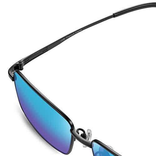 Farbenblinde Gläser PILESTONE TP-125 (Typ B) Farbenblinde Korrekturbrillen für Rotgrün - Für alle Farbenblinden (Deluxe Titanium Frame)