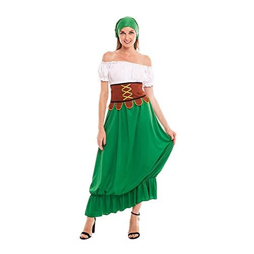 Disfraz Medieval Mesonera Mujer Vestido Tabernera Campesina PosaderaTallas Adultos de S a L[Talla S] Disfraces Medievales Edad Media Carnaval Festivales Teatro Actuaciones Desfiles