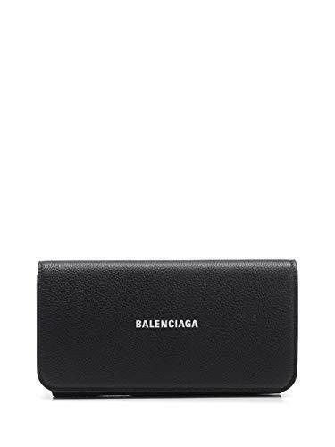 Luxury Fashion | Balenciaga Woman 5942891IZ4M1090 Black Leather Wallet | Spring Summer 20
